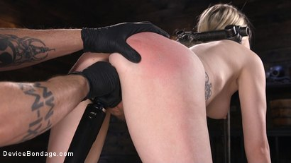 Photo number 9 from Fresh Meat: Violet October Gets the Full Treatment shot for Device Bondage on Kink.com. Featuring The Pope and Violet October in hardcore BDSM & Fetish porn.