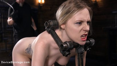 Photo number 5 from Fresh Meat: Violet October Gets the Full Treatment shot for Device Bondage on Kink.com. Featuring The Pope and Violet October in hardcore BDSM & Fetish porn.
