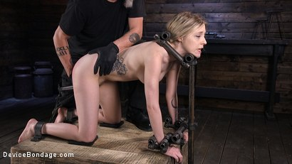 Photo number 7 from Fresh Meat: Violet October Gets the Full Treatment shot for Device Bondage on Kink.com. Featuring The Pope and Violet October in hardcore BDSM & Fetish porn.