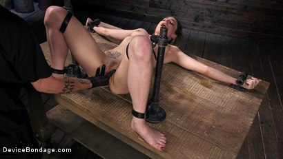 Photo number 12 from Blonde Damsel is Distressed in Brutal Devices and Tormented shot for Device Bondage on Kink.com. Featuring Dahlia Sky and The Pope in hardcore BDSM & Fetish porn.