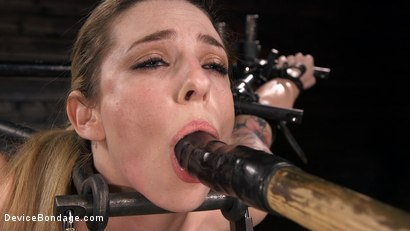 Photo number 3 from Blonde Damsel is Distressed in Brutal Devices and Tormented shot for Device Bondage on Kink.com. Featuring Dahlia Sky and The Pope in hardcore BDSM & Fetish porn.