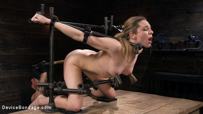 Photo number 4 from Blonde Damsel is Distressed in Brutal Devices and Tormented shot for Device Bondage on Kink.com. Featuring Dahlia Sky and The Pope in hardcore BDSM & Fetish porn.