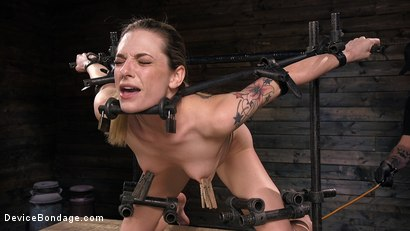 Photo number 2 from Blonde Damsel is Distressed in Brutal Devices and Tormented shot for Device Bondage on Kink.com. Featuring Dahlia Sky and The Pope in hardcore BDSM & Fetish porn.