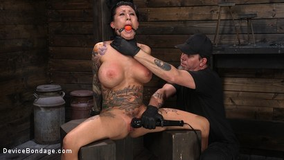 Photo number 10 from Tattooed Slut Lily Lane In Diabolical Bondage and Suffering shot for Device Bondage on Kink.com. Featuring The Pope and Lily Lane in hardcore BDSM & Fetish porn.