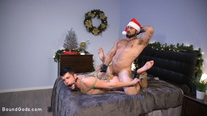 Photo number 18 from Santa's Slut: Rough Takedown Sex for First Time Kink Model shot for Bound Gods on Kink.com. Featuring Jaxton Wheeler and Addison Blue in hardcore BDSM & Fetish porn.