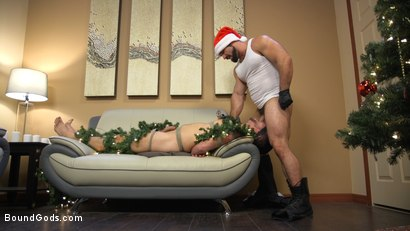 Photo number 8 from Santa's Slut: Rough Takedown Sex for First Time Kink Model shot for Bound Gods on Kink.com. Featuring Jaxton Wheeler and Addison Blue in hardcore BDSM & Fetish porn.