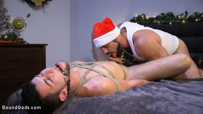 Photo number 9 from Santa's Slut: Rough Takedown Sex for First Time Kink Model shot for Bound Gods on Kink.com. Featuring Jaxton Wheeler and Addison Blue in hardcore BDSM & Fetish porn.