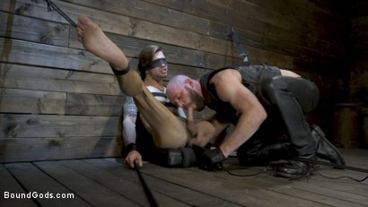 Photo number 11 from Master Samson Brutally Trains Clean Cut Jock Casey Everett shot for Bound Gods on Kink.com. Featuring Casey Everett and Hunter Samson in hardcore BDSM & Fetish porn.