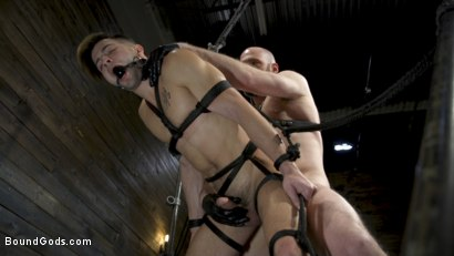 Photo number 17 from Master Samson Brutally Trains Clean Cut Jock Casey Everett shot for Bound Gods on Kink.com. Featuring Casey Everett and Hunter Samson in hardcore BDSM & Fetish porn.