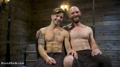 Photo number 21 from Master Samson Brutally Trains Clean Cut Jock Casey Everett shot for Bound Gods on Kink.com. Featuring Casey Everett and Hunter Samson in hardcore BDSM & Fetish porn.