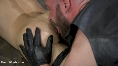 Photo number 6 from Master Samson Brutally Trains Clean Cut Jock Casey Everett shot for Bound Gods on Kink.com. Featuring Casey Everett and Hunter Samson in hardcore BDSM & Fetish porn.