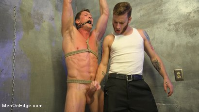 Photo number 10 from All-American Stud Pierce Paris Gets Edged and Fisted by Border Patrol shot for Men On Edge on Kink.com. Featuring Pierce Paris in hardcore BDSM & Fetish porn.