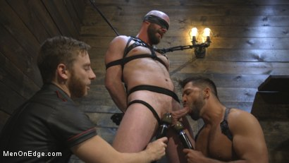 Tall Stud Hunter Samson Tormented with Rope Bondage and Orgasm Denial
