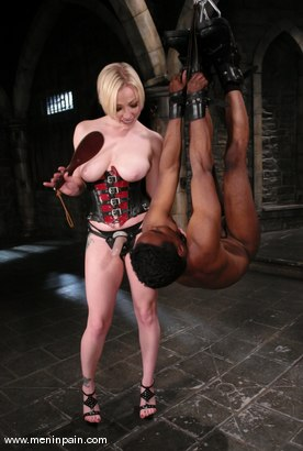 Photo number 5 from Interracial Domination shot for Men In Pain on Kink.com. Featuring Adrianna Nicole and Jeff Sinclaire in hardcore BDSM & Fetish porn.