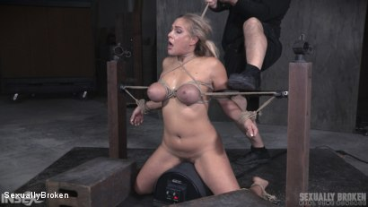 Big tits blonde gets brutally fucked in live show.