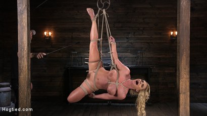 Photo number 6 from Phoenix Marie and Her Big Tits are Captured in Bondage and Tormented shot for Hogtied on Kink.com. Featuring The Pope and Phoenix Marie in hardcore BDSM & Fetish porn.