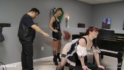 Photo number 7 from Turning The Paige: Chapter Five shot for Wasteland on Kink.com. Featuring Doc Clockwork, Paige Pierce and Ami Mercury in hardcore BDSM & Fetish porn.