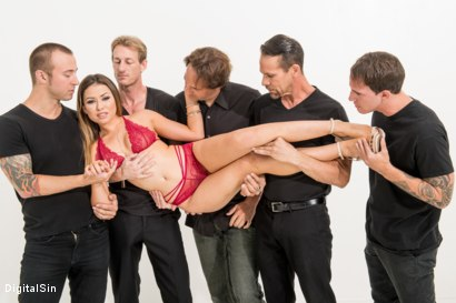 Photo number 6 from A Girl's Dream Of A Faceful Of Cream shot for Digital Sin on Kink.com. Featuring Melissa Moore, Chad Alva, Brad Hart, Ryan McLane, Filthy Rich and Eric John in hardcore BDSM & Fetish porn.