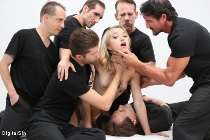Photo number 8 from Meat Meeting In A Hot Mouth shot for Digital Sin on Kink.com. Featuring Aurora Belle, Scott Lyons, Filthy Rich, Dylan Snow, Tommy Gunn, Eric John and Leo Christiensen in hardcore BDSM & Fetish porn.