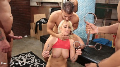 Photo number 6 from Maxim Law, Blonde Girl Next Door, Bound and Gangbanged by Horny Movers shot for Bound Gang Bangs on Kink.com. Featuring Maxim Law, Cody Steele , Cyrus King , Eddie Jaye, Donny Sins and Ray Black in hardcore BDSM & Fetish porn.