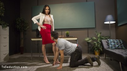 Photo number 1 from Dr. Amanda Jade, a Healthy Dose of Domination  shot for TS Seduction on Kink.com. Featuring Amanda Jade and Corbin Dallas in hardcore BDSM & Fetish porn.