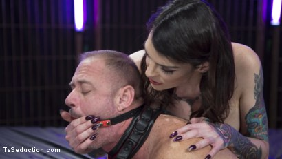 Photo number 15 from Chelsea Marie Flogs and Flip-Fucks with D. Arclyte shot for TS Seduction on Kink.com. Featuring Chelsea Marie and D. Arclyte in hardcore BDSM & Fetish porn.