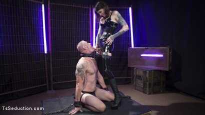 Photo number 6 from Chelsea Marie Flogs and Flip-Fucks with D. Arclyte shot for TS Seduction on Kink.com. Featuring Chelsea Marie and D. Arclyte in hardcore BDSM & Fetish porn.