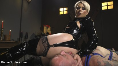 Photo number 2 from The Femdom Lifestyle: Real Couple Plays Hard shot for Divine Bitches on Kink.com. Featuring D. Arclyte and Helena Locke in hardcore BDSM & Fetish porn.