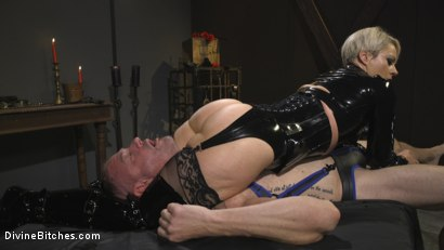 Photo number 18 from The Femdom Lifestyle: Real Couple Plays Hard shot for Divine Bitches on Kink.com. Featuring D. Arclyte and Helena Locke in hardcore BDSM & Fetish porn.
