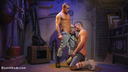 Photo number 12 from Street Meat: Back Alley Bondage shot for Bound Gods on Kink.com. Featuring Jay Austin  and Myles Landon in hardcore BDSM & Fetish porn.