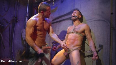 Photo number 20 from Street Meat: Back Alley Bondage shot for Bound Gods on Kink.com. Featuring Jay Austin  and Myles Landon in hardcore BDSM & Fetish porn.