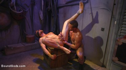 Photo number 23 from Street Meat: Back Alley Bondage shot for Bound Gods on Kink.com. Featuring Jay Austin  and Myles Landon in hardcore BDSM & Fetish porn.