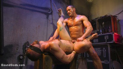 Photo number 29 from Street Meat: Back Alley Bondage shot for Bound Gods on Kink.com. Featuring Jay Austin  and Myles Landon in hardcore BDSM & Fetish porn.