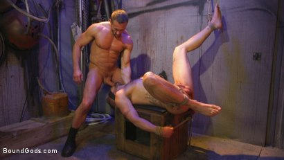 Photo number 32 from Street Meat: Back Alley Bondage shot for Bound Gods on Kink.com. Featuring Jay Austin  and Myles Landon in hardcore BDSM & Fetish porn.