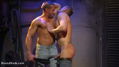 Photo number 7 from Street Meat: Back Alley Bondage shot for Bound Gods on Kink.com. Featuring Jay Austin  and Myles Landon in hardcore BDSM & Fetish porn.
