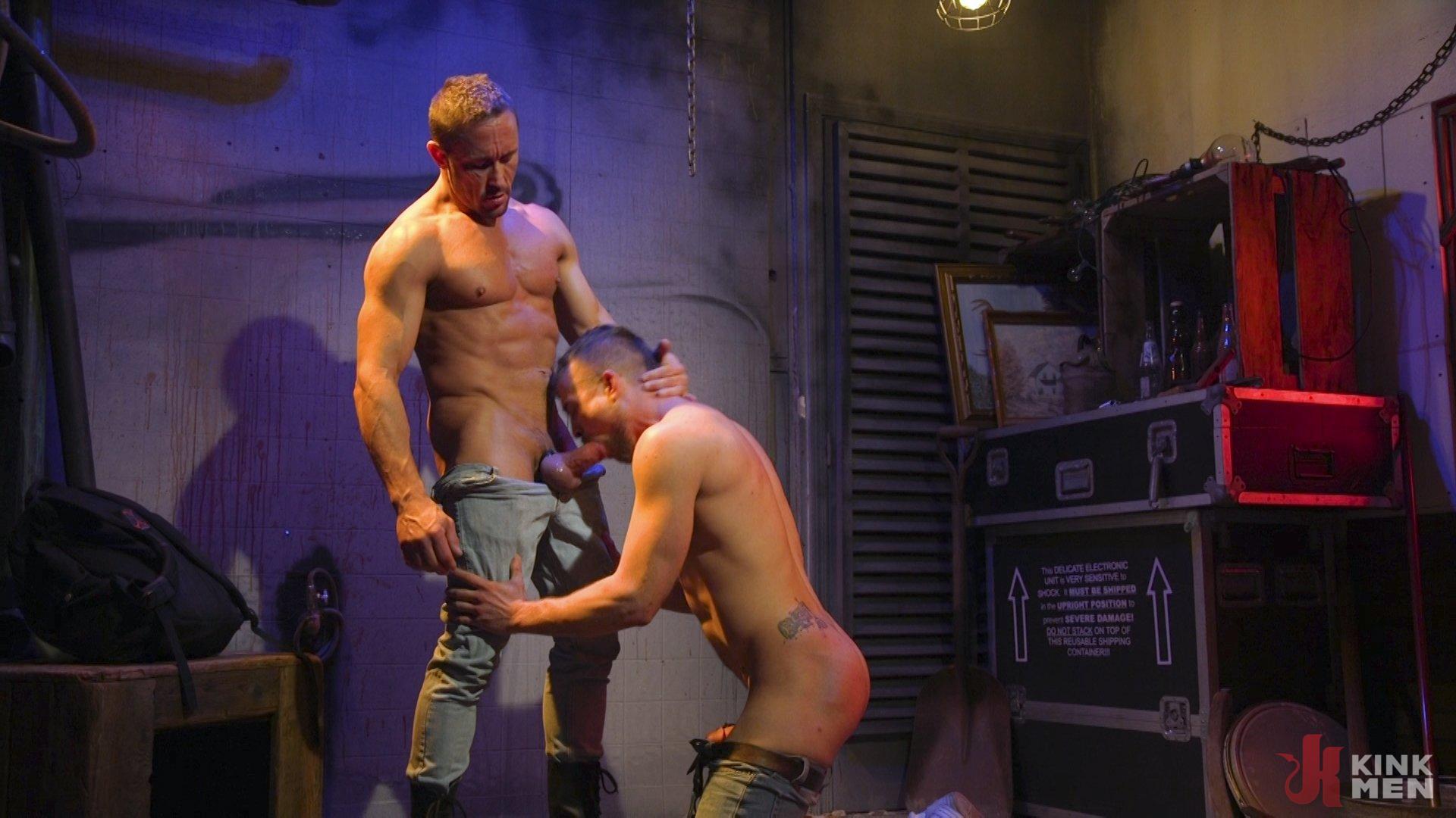 Photo number 9 from Street Meat: Back Alley Bondage shot for Bound Gods on Kink.com. Featuring Jay Austin  and Myles Landon in hardcore BDSM & Fetish porn.