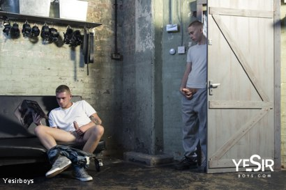 Photo number 31 from Hard Lesson shot for Yesirboys on Kink.com. Featuring Master Aaron and Clyde Walton in hardcore BDSM & Fetish porn.
