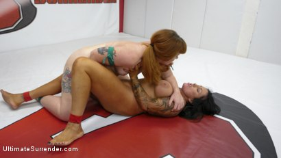 Photo number 9 from Barbary Rose vs Simone Garza: Major Ass Smother For The Loser shot for Ultimate Surrender on Kink.com. Featuring Simone Garza and Barbary Rose in hardcore BDSM & Fetish porn.