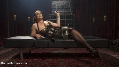 Photo number 1 from Gorgeous Sadist Bella Rossi Torments An Unsuspecting Mike Panic shot for Divine Bitches on Kink.com. Featuring Bella Rossi and Mike Panic in hardcore BDSM & Fetish porn.