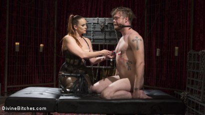 Photo number 2 from Gorgeous Sadist Bella Rossi Torments An Unsuspecting Mike Panic shot for Divine Bitches on Kink.com. Featuring Bella Rossi and Mike Panic in hardcore BDSM & Fetish porn.