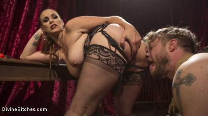 Photo number 11 from Gorgeous Sadist Bella Rossi Torments An Unsuspecting Mike Panic shot for Divine Bitches on Kink.com. Featuring Bella Rossi and Mike Panic in hardcore BDSM & Fetish porn.