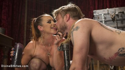 Photo number 14 from Gorgeous Sadist Bella Rossi Torments An Unsuspecting Mike Panic shot for Divine Bitches on Kink.com. Featuring Bella Rossi and Mike Panic in hardcore BDSM & Fetish porn.