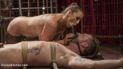 Photo number 15 from Gorgeous Sadist Bella Rossi Torments An Unsuspecting Mike Panic shot for Divine Bitches on Kink.com. Featuring Bella Rossi and Mike Panic in hardcore BDSM & Fetish porn.