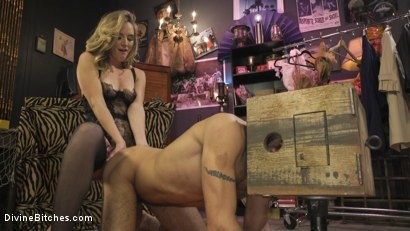 Photo number 21 from Mona Wales Trains Her New Beta Bitch Boytoy shot for Divine Bitches on Kink.com. Featuring Mona Wales and DJ in hardcore BDSM & Fetish porn.