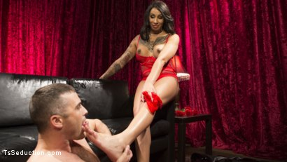 Photo number 22 from Sensual Sex in the Champagne Room with Honey Foxxx and Lance Hart shot for TS Seduction on Kink.com. Featuring Honey FoXXX and Lance Hart in hardcore BDSM & Fetish porn.