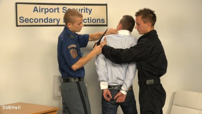 Photo number 2 from Hugo, Borek and Martin RAW - AIRPORT SECURITY shot for Str8Hell on Kink.com. Featuring Borek Sokol, Hugo Antonin and Martin Merlot in hardcore BDSM & Fetish porn.