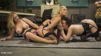 Photo number 14 from HUSH Ep8: Angel Allwood Gets DP'd By Cherry Torn and Julia Ann shot for Kink Features on Kink.com. Featuring Cherry Torn, Julia Ann and Angel Allwood in hardcore BDSM & Fetish porn.