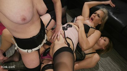 Photo number 17 from HUSH Ep8: Angel Allwood Gets DP'd By Cherry Torn and Julia Ann shot for Kink Features on Kink.com. Featuring Cherry Torn, Julia Ann and Angel Allwood in hardcore BDSM & Fetish porn.