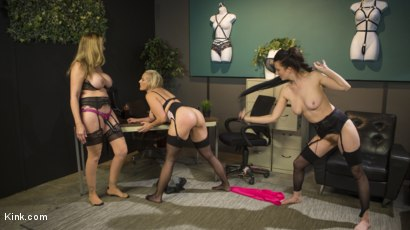 Photo number 8 from HUSH Ep8: Angel Allwood Gets DP'd By Cherry Torn and Julia Ann shot for Kink Features on Kink.com. Featuring Cherry Torn, Julia Ann and Angel Allwood in hardcore BDSM & Fetish porn.