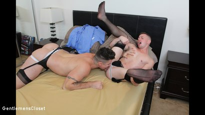 Photo number 11 from Silhouette shot for Gentlemens Closet on Kink.com. Featuring Kyler Ash and Trenton Ducati in hardcore BDSM & Fetish porn.